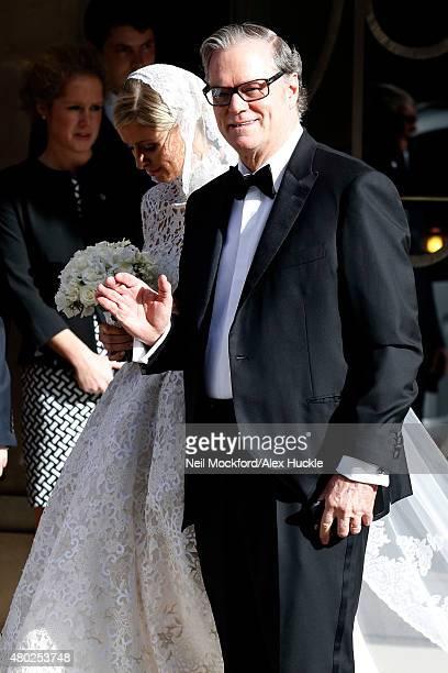 Nicky and Richard Hilton seen leaving Claridge's Hotel for Nicky Hilton's Wedding on July 10 2015 in London England Photo by Neil Mockford/Alex...