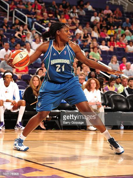 Nicky Anosike of the Minnesota Lynx during a WNBA game against the Phoenix Mercury on June 10 2010 at US Airways Center in Phoenix Arizona NOTE TO...