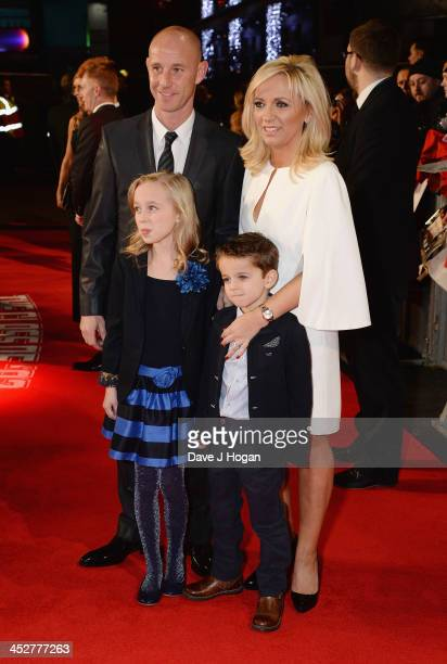 Nicky Butt and family attend the World premiere of The Class of 92 at Odeon West End on December 1 2013 in London England