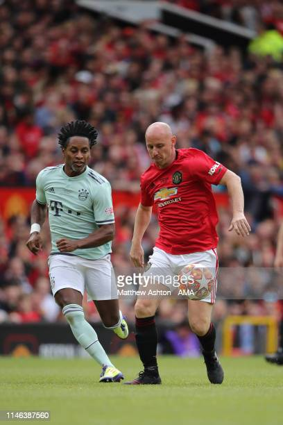 Nicky Butt of Manchester United '99 Legends during the Manchester United '99 Legends v FC Bayern Legends match at Old Trafford on May 26 2019 in...