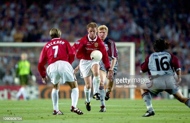 Nicky Butt of Manchester United during the UEFA Champions league final match between Manchester United and Bayern Munich on May 26 1999 in Camp Nou...