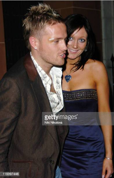 Nicky Byrne and Georgina Byrne during Celebrity Arrivals at Cipriani Restaurant in London December 3 2005 at Cipriani in London Great Britain