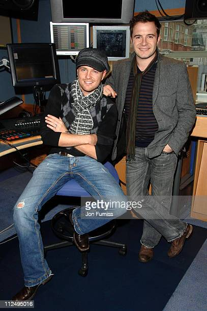 Nicky Byrne and Shane Filan of Westlife during Westlife Visit Capital FM October 26 2006 at Captial FM Studios in London Great Britain