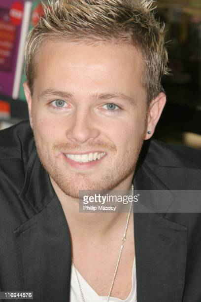 Nicky Byrne during Westlife InStore Signing at HMV in Dublin October 28 2005 at HMV in Dublin Ireland