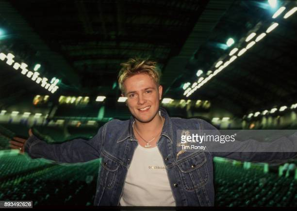 Nicky Byrne of Irish boy band Westlife portrait United Kingdom 2000