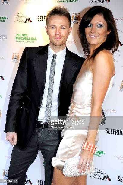 Nicky Byrne of Westlife and wife Georgina Ahern attend Fashion Kicks in aid of Macmillan Cancer Relief at Old Trafford Cricket ground on April 13...