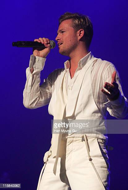 Nicky Byrne of Westlife during Westlife's Face to Face Asian Tour in Seoul at Jamsil Concert Hall in Seoul Seoul South Korea
