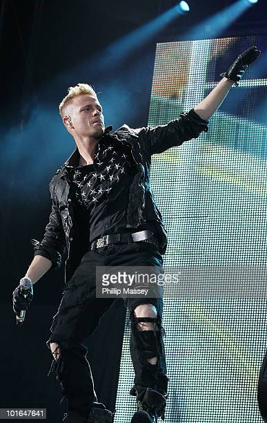 Nicky Byrne of Westlife performs at Croke Park on June 5 2010 in Dublin Ireland