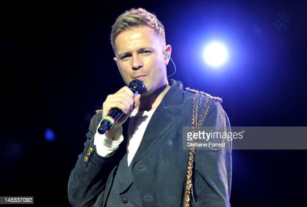 Nicky Byrne of Westlife performs at MEN Arena as part of their farewell tour on May 26 2012 in Manchester England