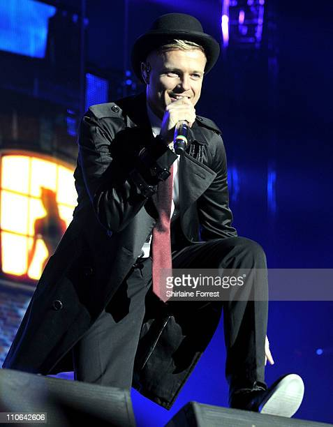 Nicky Byrne of Westlife performs at MEN Arena on March 22 2011 in Manchester England