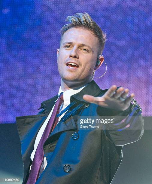 Nicky Byrne of Westlife performs on stage at LG Arena on March 25, 2011 in Birmingham, United Kingdom.