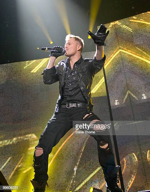 Nicky Byrne of Westlife performs on stage at LG Arena on May 16 2010 in Birmingham England