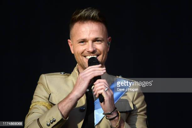 Nicky Byrne of Westlife performs on stage during BBC2 Radio Live 2019 at Hyde Park on September 15 2019 in London England