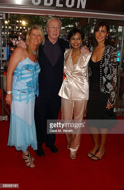 Nicky Caine Michael Caine Shakira Caine Natasha Caine arrive at the European premiere of Batman Begins at the Odeon Leicester Square on June 12 2005...