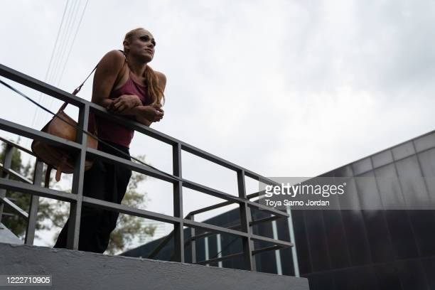 Nicky Castelan poses for a portrait in the Buenavista neighborhood on June 22 2020 in Mexico City Mexico Nicky a HIV positive trans sex worker and...