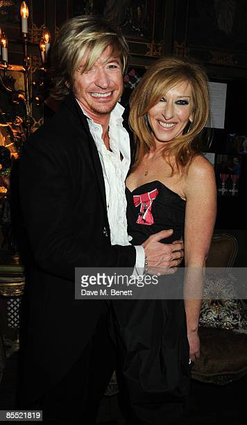 Nicky Clarke and Kelly Hoppen attend the party to celebrate Hoppen's MBE received for her services to interior design at Beach Blanket Babylon on...