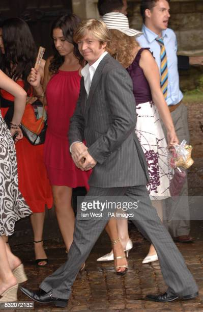 Nicky Clarke at the wedding of Ant McParlin and Lisa Armstrong at StNicholas Church in Taplow Buckinghamshire Picture date Saturday July 22 2006 See...