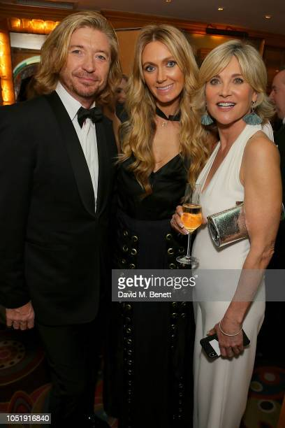Nicky Clarke Kelly Simpkin and Anthea Turner attend the International Day of the Girl Child Charity Event At The Original Annabel's hosted by The...