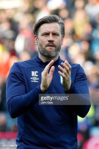 Nicky Cowley the assistant manager of Huddersfield Town during the Sky Bet Championship match between Leeds United and Huddersfield Town at Elland...
