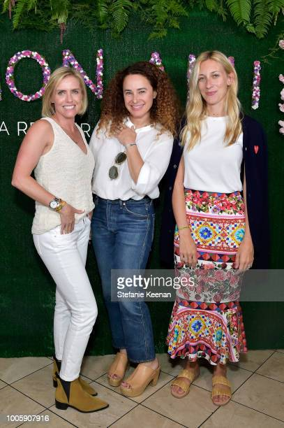 Nicky Deam Sari Tuschman and guest attend Adina Reyter Friendship Bracelet Launch at Soho House on July 26 2018 in West Hollywood California