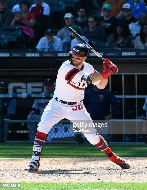 Nicky Delmonico of the Chicago White Sox bats against the Minnesota Twins during the eighth inning on May 6 2018 at Guaranteed Rate Field in Chicago...