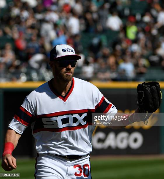 Nicky Delmonico of the Chicago White Sox plays against the Minnesota Twins during the eighth inning on May 6 2018 at Guaranteed Rate Field in Chicago...
