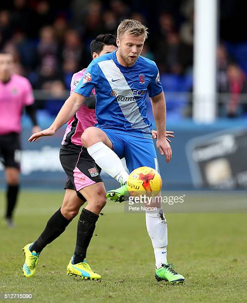 Nicky Featherstone of Hartlepool United in action during the Sky Bet League Two match between Hartlepool United and Northampton Town at Victoria Park...
