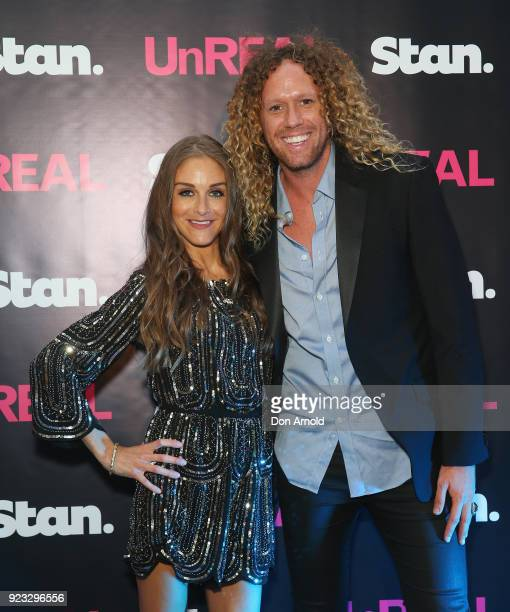 Nicky Graham and Tim Dormer attend the UnREAL Australian Premiere Party on February 23 2018 in Sydney Australia