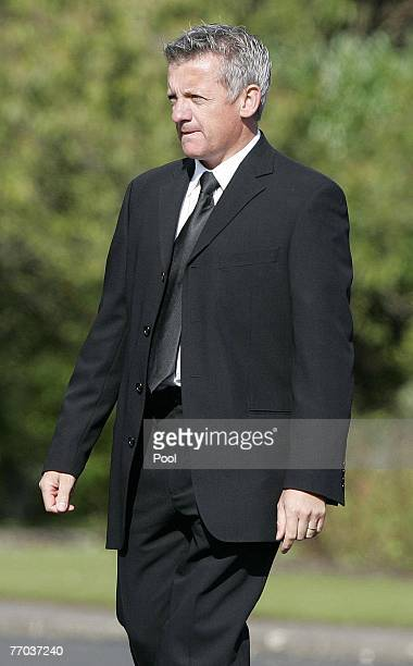 Nicky Grist arriving for the funeral of Colin McRae and son Johnny at East Chapel, Daldowie Crematorium on September 26, 2007 in Glasgow, Scotland....