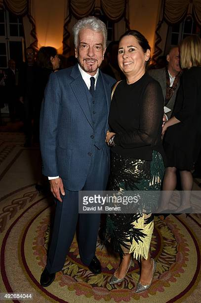 Nicky Haslam and Alexandra Shulmann attend The Academy Of Motion Pictures Arts Sciences new members reception hosted by Ambassador Matthew Barzun and...