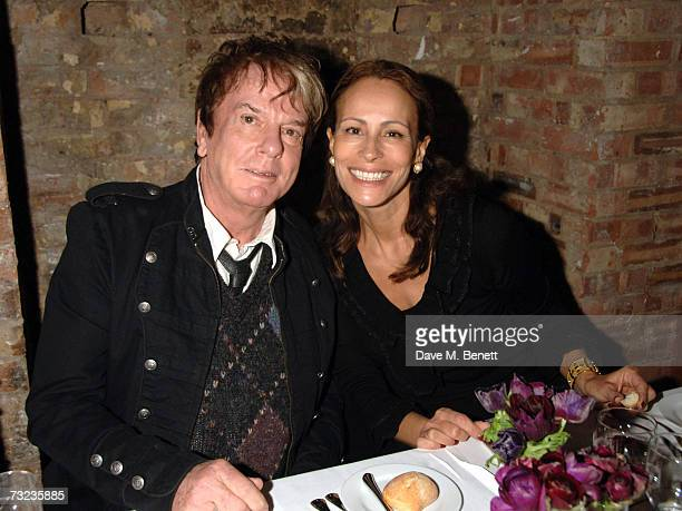 Nicky Haslam and Andrea Dellal attend the private dinner following the private view of George Condo's new paintings and sculptures on display at the...