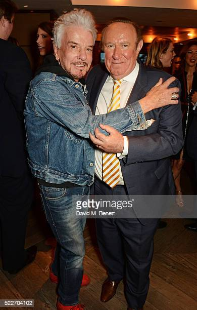 Nicky Haslam and Andrew Neil attend as The Spectator's lifestyle magazine celebrates its fourth birthday at the Belgraves Hotel on April 20 2016 in...