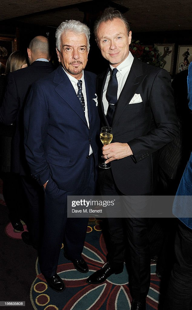 Nicky Haslam (L) and Gary Kemp attend a launch hosted by The Vinyl Factory of Bryan Ferry's new album 'The Jazz Age' at Annabelson November 22, 2012 in London, England.