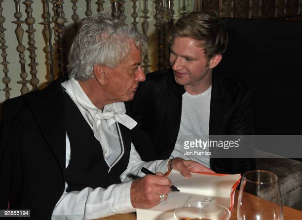 Nicky Haslam and Henry Conway attends the book launch party for Nicky Haslam's autobiography 'Redeeming Features' on November 5 2009 in London England