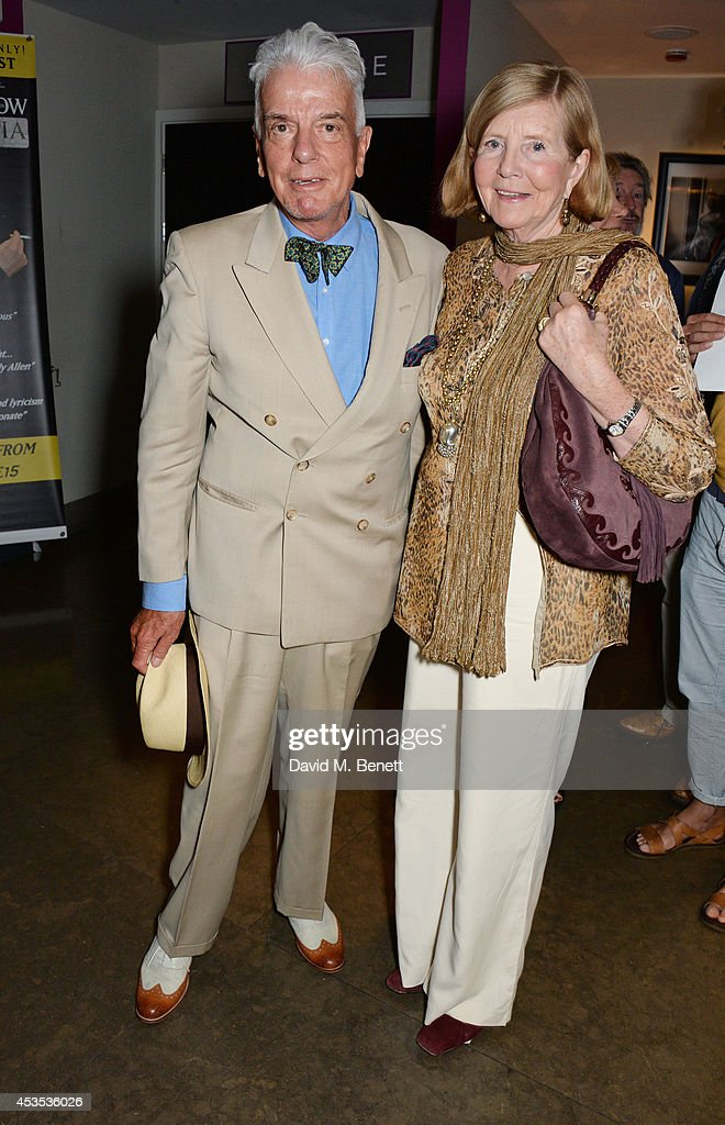 Nicky Haslam (L) and Lady Glenconner attend an after party celebrating the press night performance of 'Celia Imrie: Laughing Matters' at the St James Theatre on August 12, 2014 in London, England.