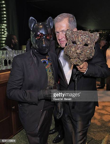 Nicky Haslam and Mario Testino attend The Animal Ball 2016 presented by Elephant Family at Victoria House on November 22 2016 in London England