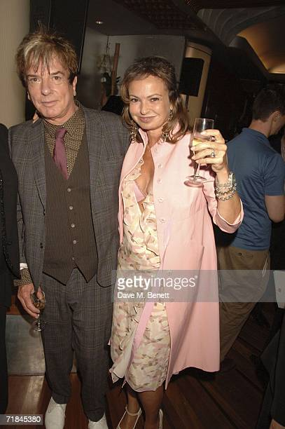 Nicky Haslam and Maya Flick attend the Sir John Betjeman Gala after party at the Prince of Wales Theatre on September 10 in London England