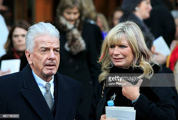 Nicky Haslam and Pandora Delevingne attend a memorial for Sir Jocelyn Stevens at St Paul's Church on February 5 2015 in London England