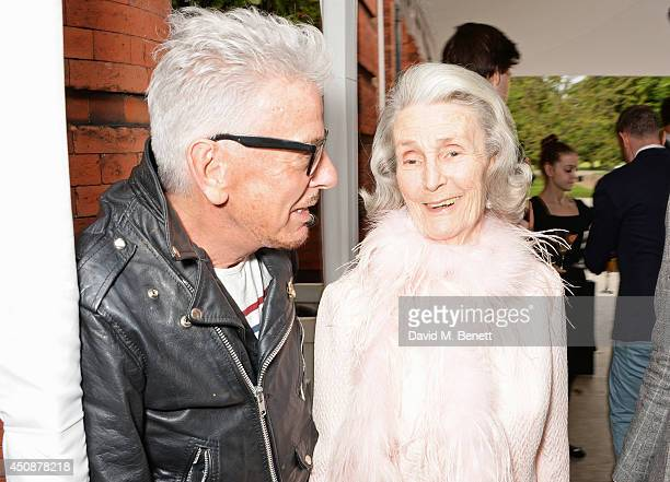 Nicky Haslam and Princess George Galitzine attend the drinks reception hosted by Dockers the San Francisco based apparel brand at Kensington Palace...
