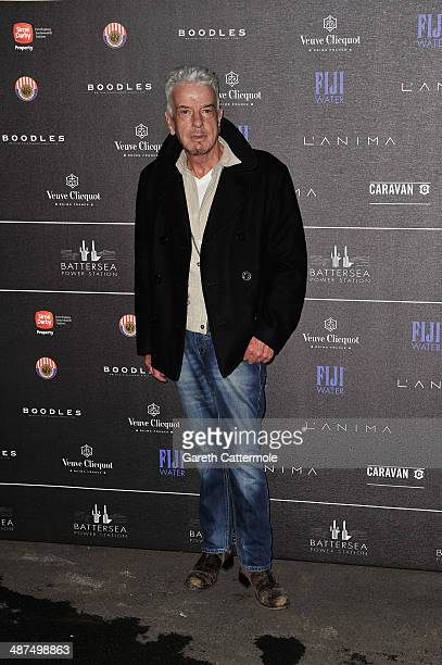 Nicky Haslam arrives at the Battersea Power Station Annual Party on April 30 2014 in London England