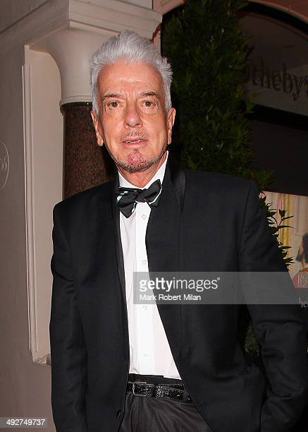 Nicky Haslam attending the annual Irish evening at Sotheby's to raise money for eye charity Orbis on May 21 2014 in London England