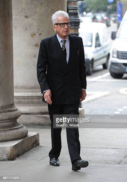 Nicky Haslam attends a memorial service for former British Vogue Editor Beatrix Miller at St George's Church on April 28 2014 in London England She...