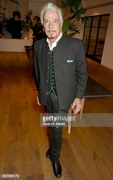 Nicky Haslam attends the anniversary party for Kelly Hoppen MBE celebrating 40 years as an Interior Designer at Alva Studios on November 9 2016 in...
