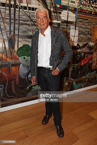 Nicky Haslam attends the debut screening of a short film collaboration between Bella Freud and director Martina Amati at Max Wigram Gallery on...