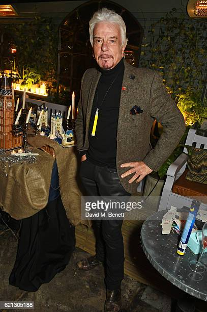 Nicky Haslam attends The Ivy Chelsea Garden's Guy Fawkes party on November 5 2016 in London England