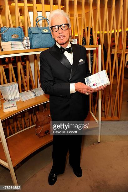 Nicky Haslam attends the launch of 'Techbitch' with Mulberry and Penguin on June 10 2015 in London England