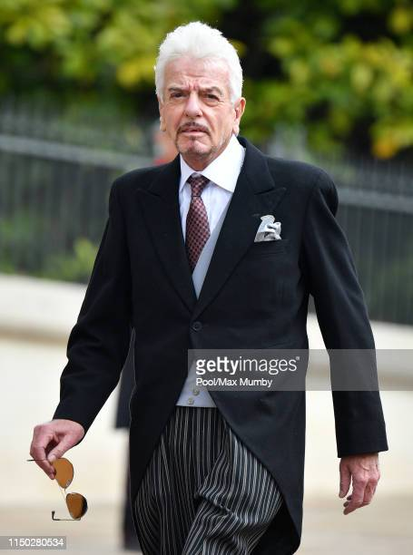 Nicky Haslam attends the wedding of Lady Gabriella Windsor and Thomas Kingston at St George's Chapel on May 18 2019 in Windsor England