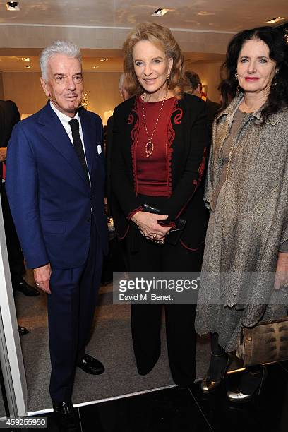 Nicky Haslam Princes Michael of Kent and Louisa Baccaria attend the launch of Nicky Haslam's new book 'A Designer's Life' at Ralph Lauren on November...