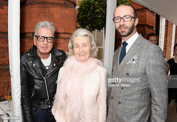 Nicky Haslam Princess George Galitzine and Austin MuttiMewse attend the drinks reception hosted by Dockers the San Francisco based apparel brand at...
