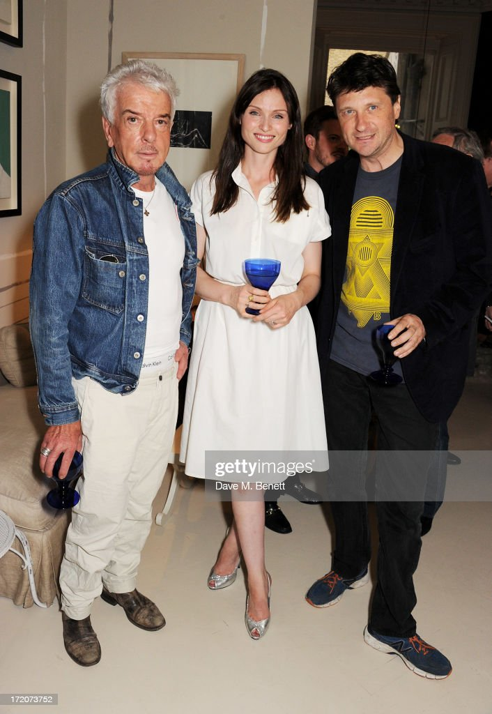 Nicky Haslam, Sophie Ellis-Bextor and Lord John Somerset attend the launch of Nicky Haslam's new album 'Midnight Matinee' on July 1, 2013 in London, England.